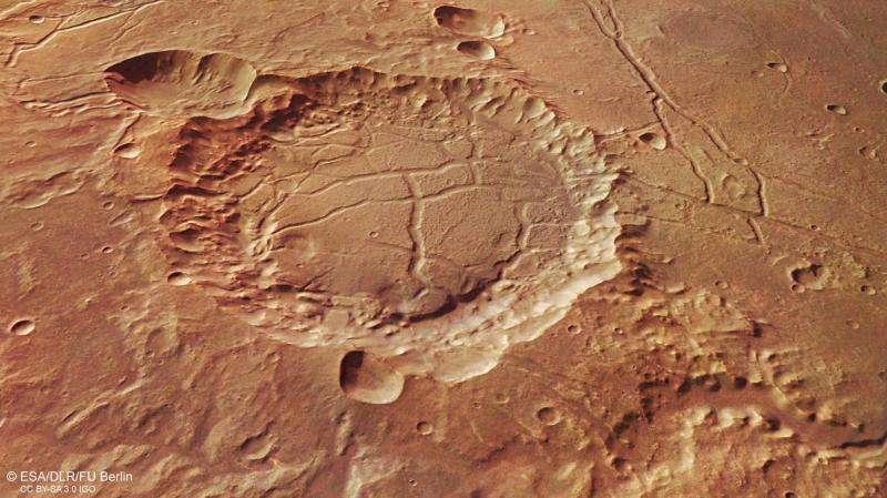 Footprints of a martian flood