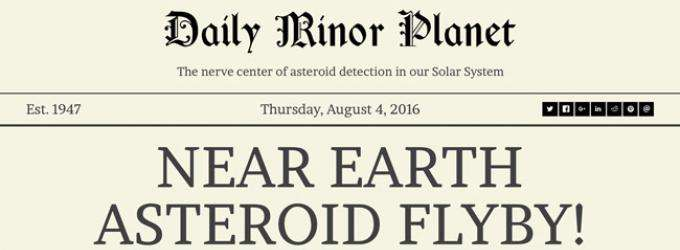 Introducing the Daily Minor Planet: Delivering the Latest Asteroid News