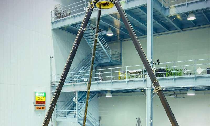 James Webb Space Telescope's golden mirror unveiled