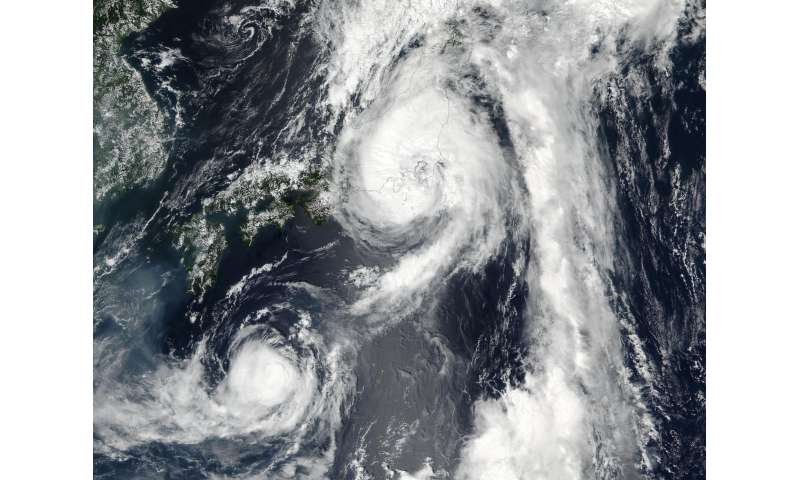 NASA-NOAA's Suomi NPP Satellite sees two Tropical Cyclones near Japan