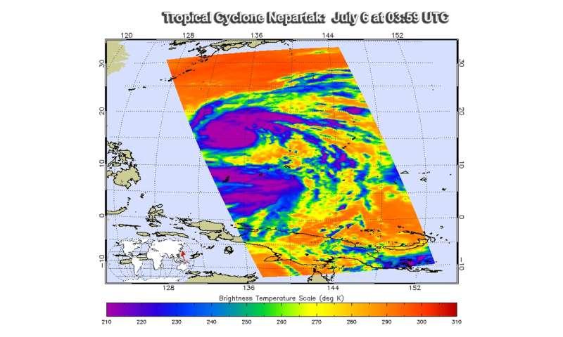 NASA's Aqua satellite scans powerful Typhoon Nepartak