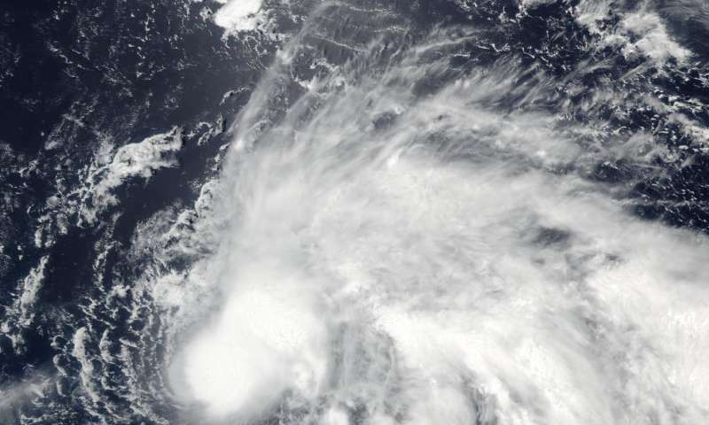 NASA sees wind shear relax in Tropical Storm Conson