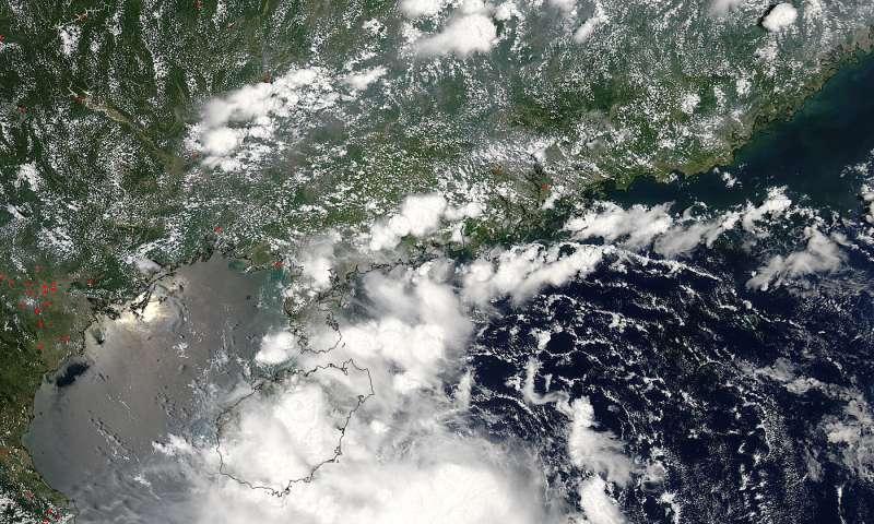 NASA spots Tropical Storm Mirinae approaching China's Hainan Island