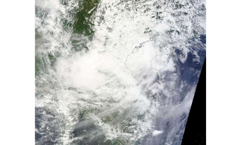 NASA's Terra Satellite sees Tropical Storm Dianmu over Vietnam