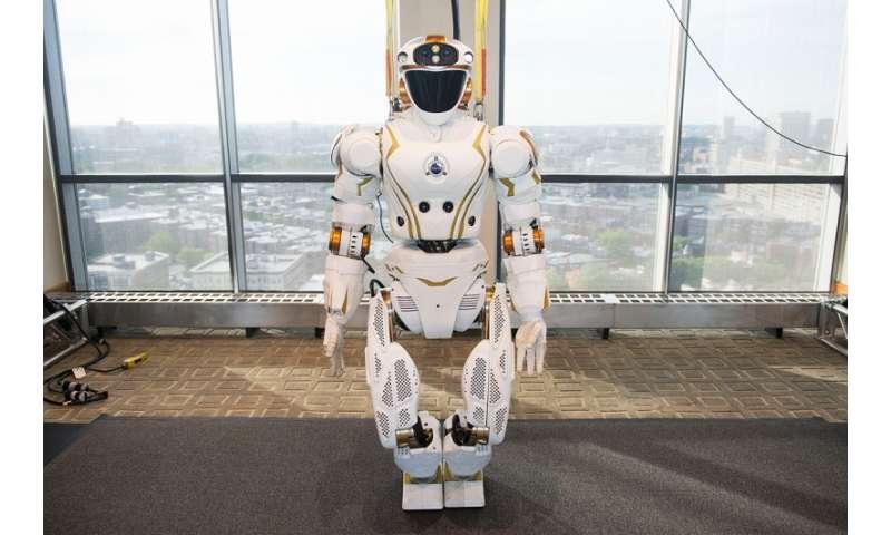 Valkyrie robot meets the public
