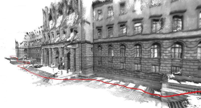 3-D mapping of entire buildings with mobile devices