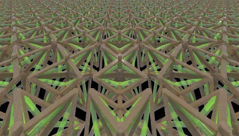 3D printed metamaterial shrinks when heated