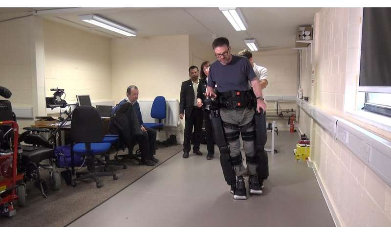 Clinical trials of robotic legs helping patients walk again