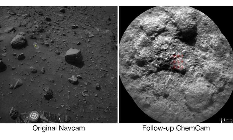 Curiosity Mars rover can choose laser targets on its own