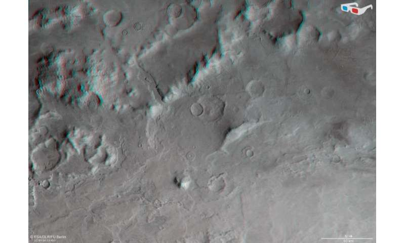 Frosty martian valleys