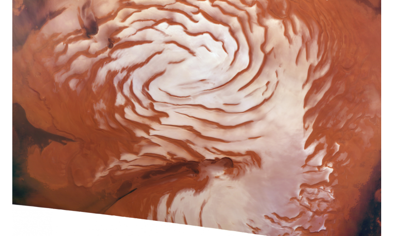 Scientists discover evidence of ice age at martian north pole