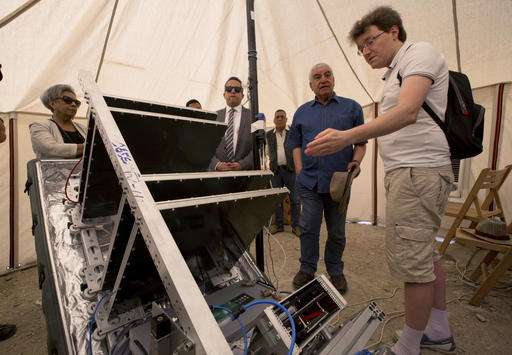 Team testing new scanner on Egypt's Great Pyramid