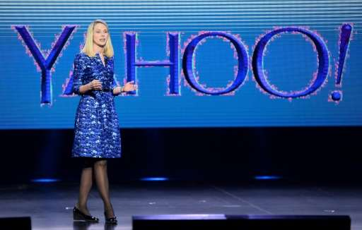 Yahoo! President and CEO Marissa Mayer delivers a keynote address at the 2014 International CES at The Las Vegas Hotel & Cas