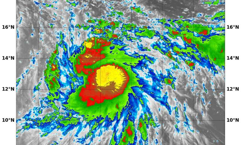NASA sees Tropical Storm 18W moving into Philippine sea