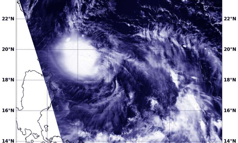 NASA sees Tropical Depression 22W form