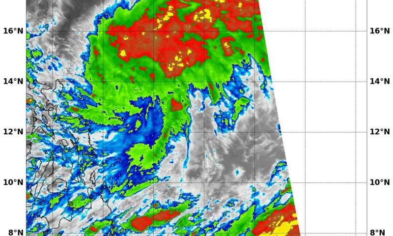NASA sees Tropical Depression 24W moving toward Philippines