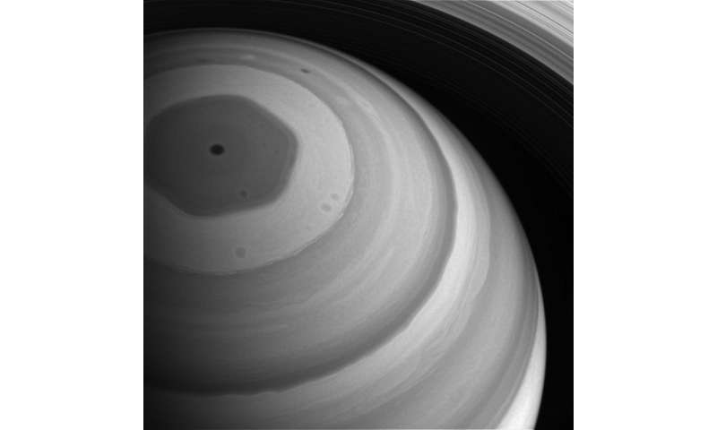 Image: Saturn's north pole basking in light