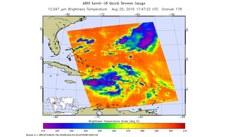 NASA examines System 99L over Hispaniola in infrared light