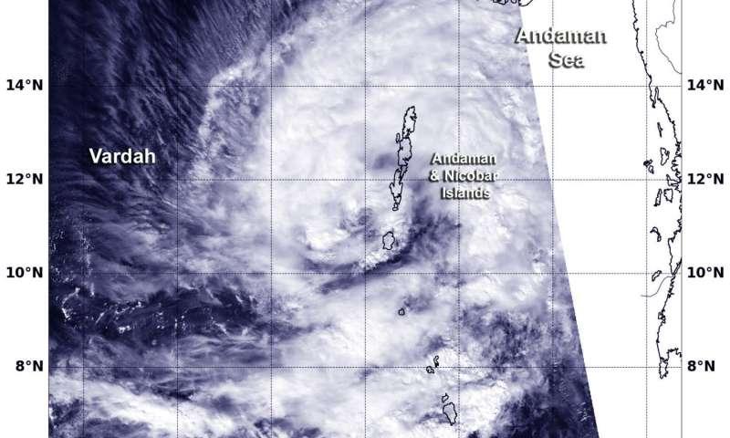 NASA sees Tropical Cyclone Vardah spinning near Andaman Islands