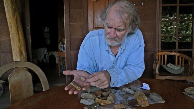 Stone-age tools found, but who wielded them?