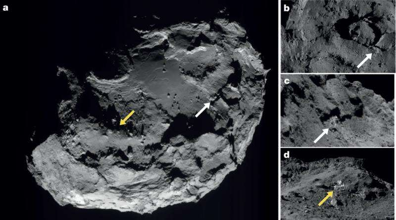 Water ice found on the surface of comet 67P