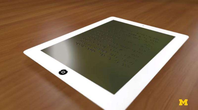 Michigan team work on Braille tablet display to widen access