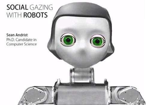 Robot-human eye contact helps conversation flow