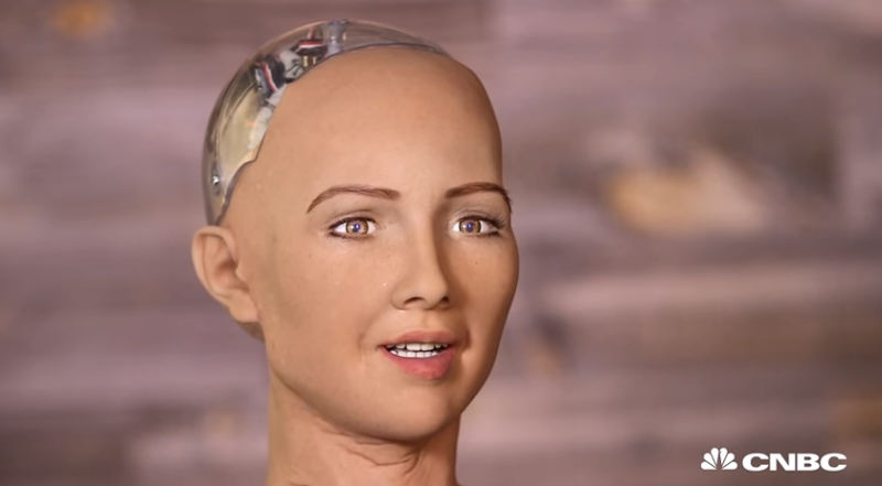 Humanoid Sophia is given primary role of talking to people