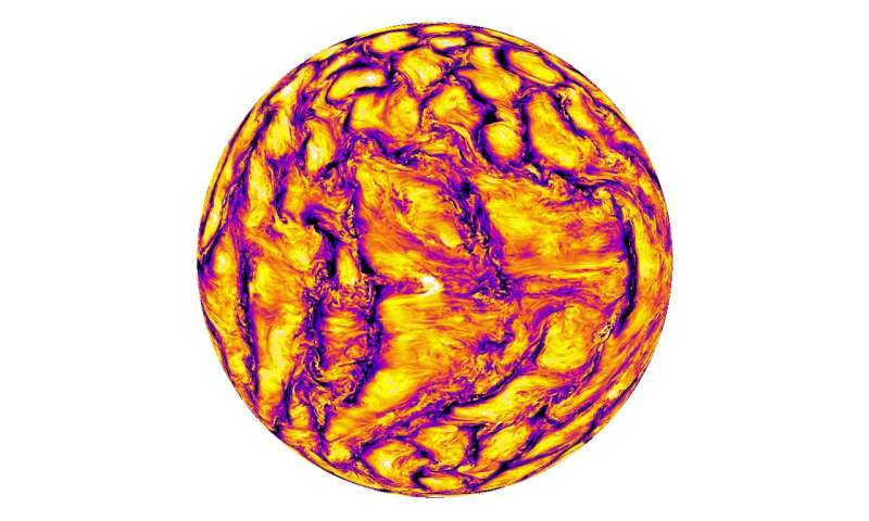 New simulation of the sun shows both large and small scale processes