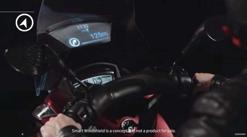 Smart Windshield is concept for motorbike rider safety
