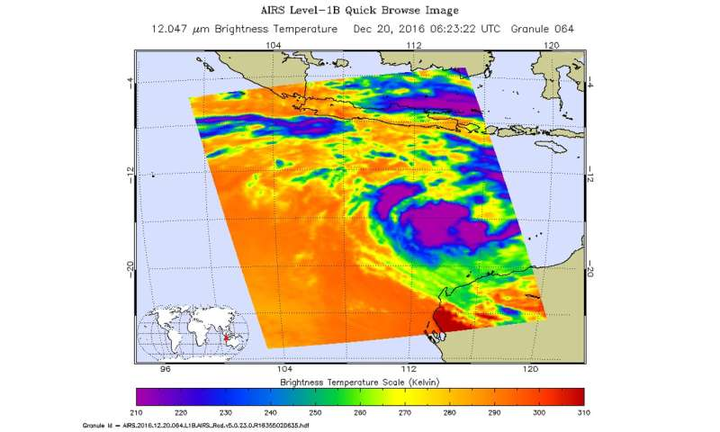 NASA sees Tropical Cyclone 02S develop in Southern Indian Ocean