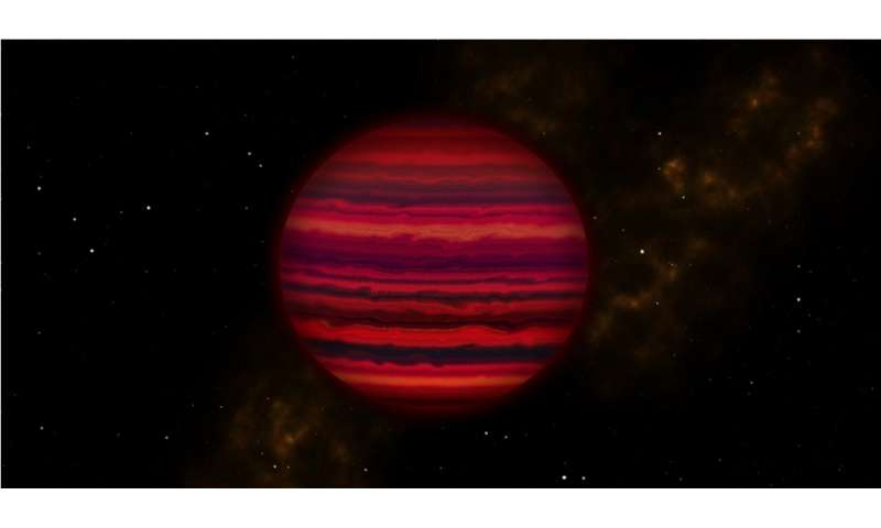 Astronomers find evidence of water clouds in first spectrum of coldest brown dwarf