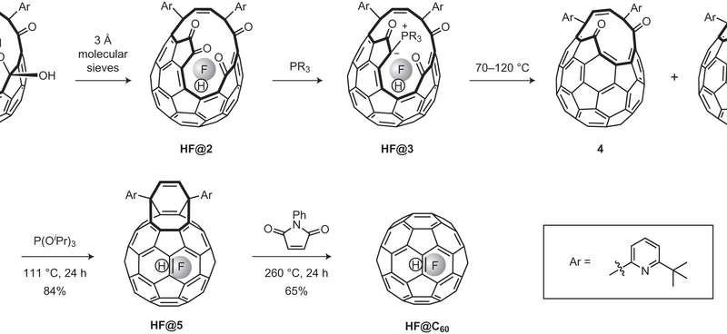 Synthesis and characterization of encapsulated single HF molecule