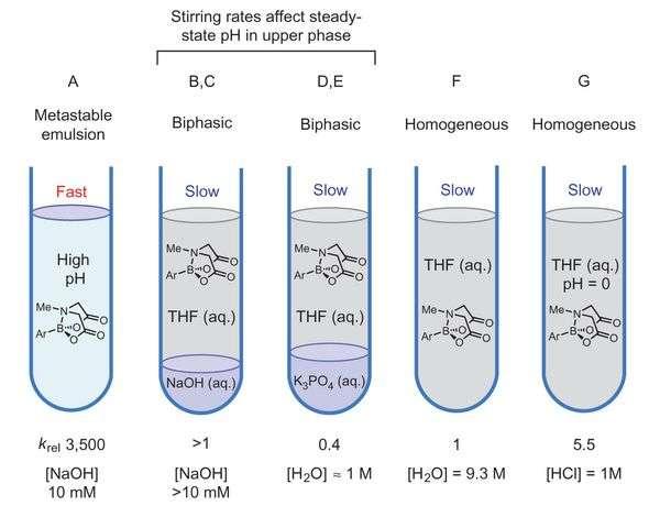 MIDA boronates react via two different mechanisms