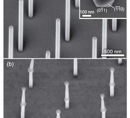 A novel method of making high-quality vertical nanowires