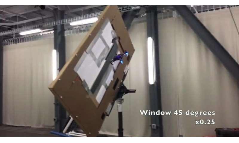 Small quadrotors make their moves around poles and narrow window gaps