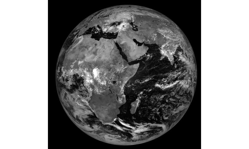 Meteosat-8 satellite's new position of 41.5°E provides weather and climate view over the Indian Ocean