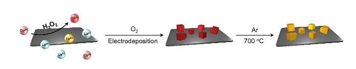 Integration of oxidative perovskite with reductive framework through aqueous pre-oxidation for water oxidation