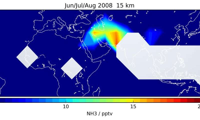 First detection of ammonia in the upper troposphere
