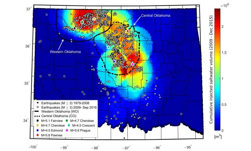 Manmade earthquakes in Oklahoma on the decline