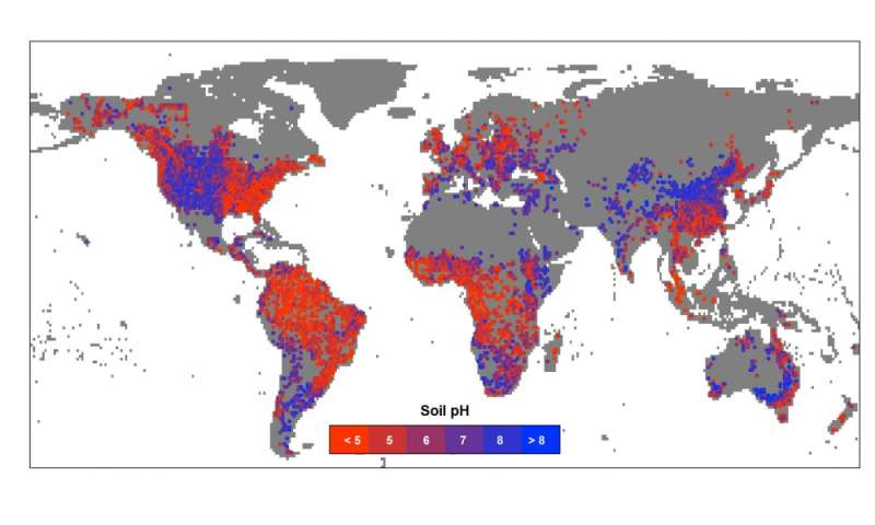 Researchers create global map of soil pH and illuminate how ...