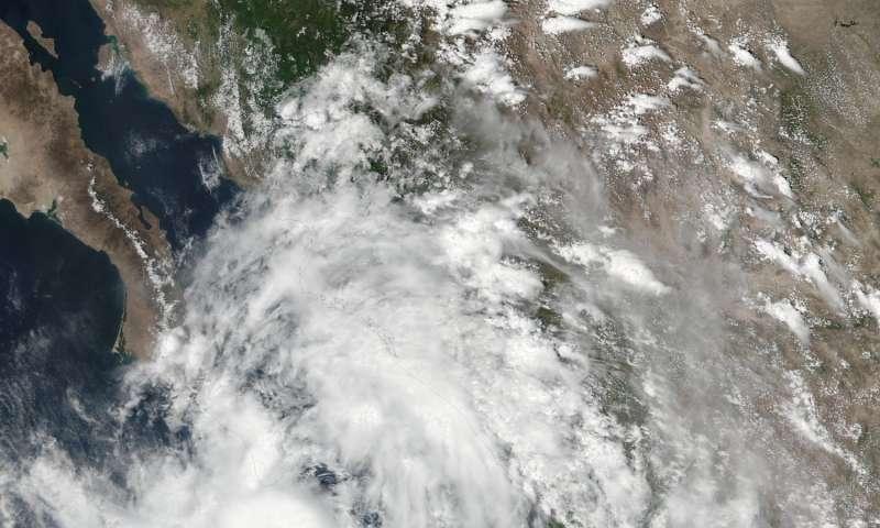 NASA spots Tropical Storm Javier at southern tip of Baja California