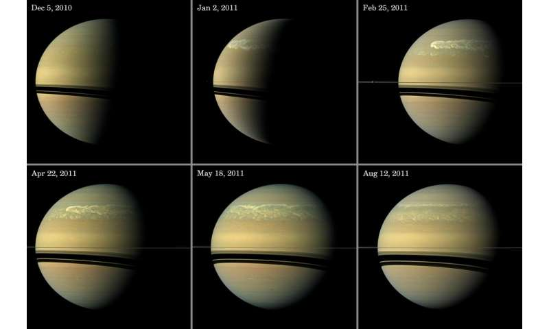 Scientists study the evolution of Saturn's great storm of 2010-2011