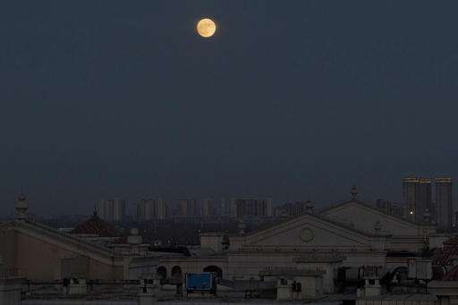 Chinese treated to clear views of another supermoon