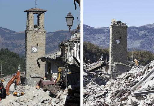 Powerful Italy quake spares lives, but strikes at identity (Update)
