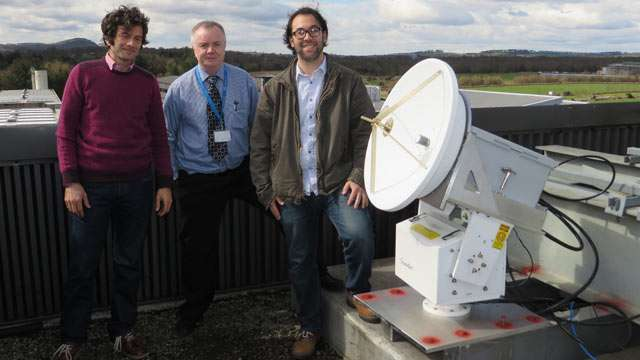 Researchers assess the atmospheric absorption of higher frequency waves from a geostationary satellite