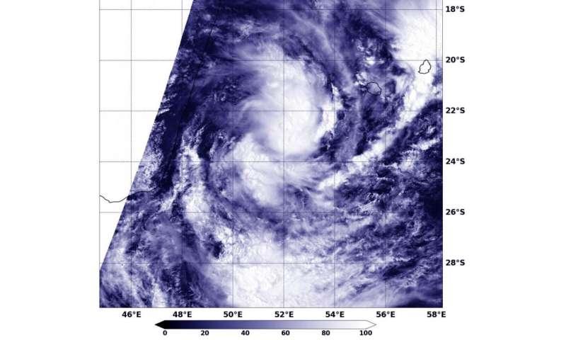 NASA sees Tropical Storm 10S form