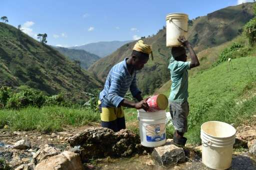 About 42 percent of Haitians do not have access to safe drinking water, according to the UN