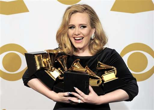 Adele has best-selling album as global music revenue rises
