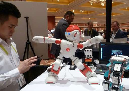 Alpha 2, a humanoid robot from China's UBTech, is shown at the Consumer Electronics Show in Las Vegas on January 7, 2016